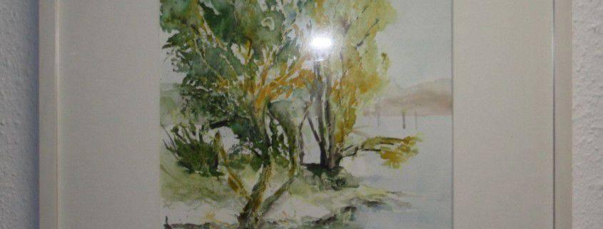 Baum am Wasser (Aquarell)