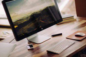 Bild von mac Arbeitsplatz