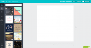 Screenshot von Canva