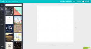 Screenshot von Canva