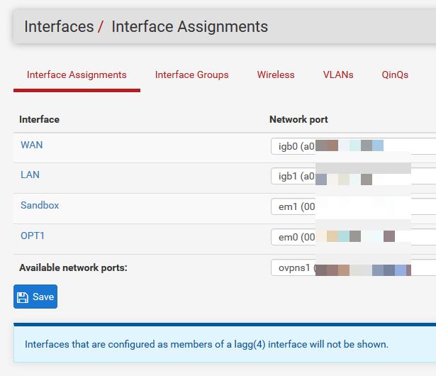 Zuweisung weiterer Interfaces z.B. für eine DMZ oder das WLAN