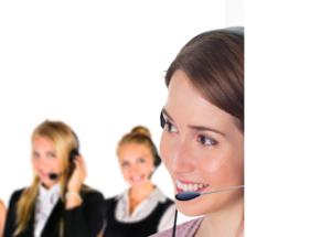 Frauen mit Headset