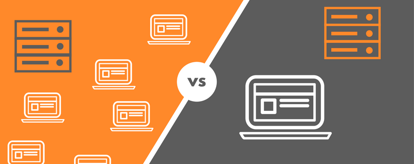 difference between shared and dedicated server