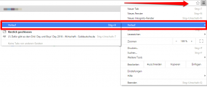Verlauf löschen bei Google Chrome