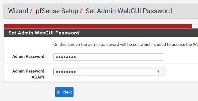 Last but not least: Ein sicheres Passwort für die Web-Oberfläche der pfsense