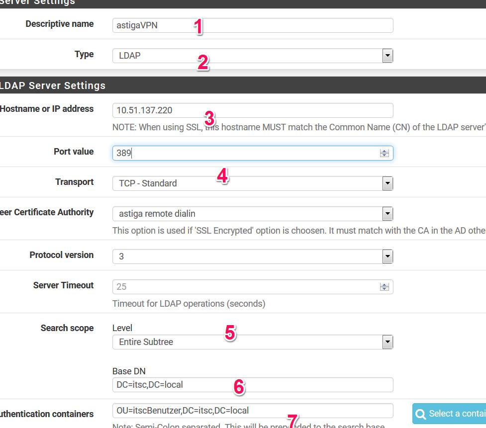 LDAP-Server zur Authentifizierung einrichten