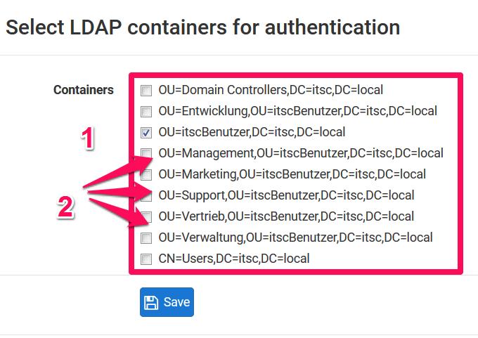 LDAP-Container bzw. LDAP-OUs