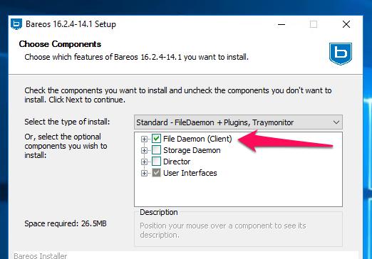 Der Windows-Installer für den Bares-Client unter Windows