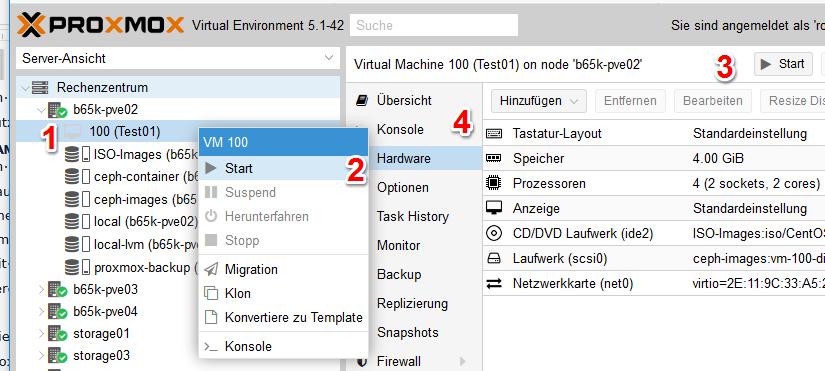 Proxmox Virtual Environment - PVE | Tutorial - biteno com