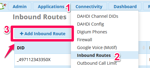FreePBX: Inbound Route anlegen