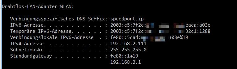 IPv6 Konfiguration auf dem eigenen PC/Notebook